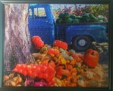 Framed Puzzle Picture - Vintage Truck With Pumpkins
