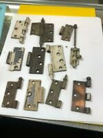 large Lot of Vintage Cast Iron Ornate  Door Hinges With Pins Hardware----LOT-A2