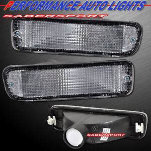 Set of Pair Clear Signal Bumper Lights for 95-97 Tacoma 4WD / 98-00 Tacoma 2WD