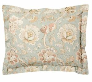*RARE* (2) POTTERY BARN Whitney Floral Light Blue Pillow Shams Cases — SOLD OUT!