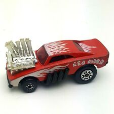 Matchbox Red Rider Matchbox Toys LTD 1972 Red Flames Piper Large Funny Pipes Vtg