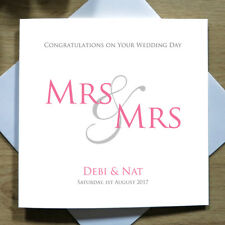 Personalised Handmade Mrs And Mrs Wedding Day Card - Bride, Same Sex Gay & Civil