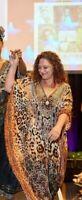 XXXXXXL Embellished Kaftan Animal Print/ Jewelled Caftan Dress Leopard AU 12-30+