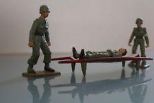 STARLUX Plastique Brancardiers avec civière et soldat blessé  Années 70
