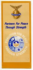 """1970s Brochure: """"American Security Council - Partners For Peace Through Strength"""