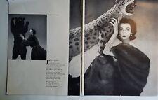 1950 woman's crown Sable mink stole Dovima Eisenberg jewelry ad