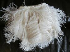 New art deco white feather flapper bag 20s