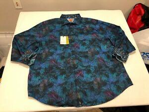NWT $248.00 Robert Graham Mens Leafy Dreams Buttondown Multi Color Leaf 4XL