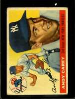 1955 TOPPS #20 ANDY CAREY POOR YANKEES  *X15591