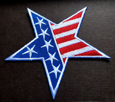 UNITED STATES OF AMERICA FLAG STAR Embroidered Iron on Patch NEW!!!