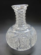 Carafe American Brilliant Period hand Cut Glass antique ABP flashed star antique