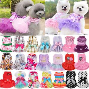 Small Pet Dog Cat Puppy Tutu Lace Dress Ballet Skirt Princess Apparel Clothes #8