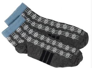 SockWell women's merino wool crew Socks size S-M deco dot charcoal NEW!