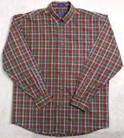 Pendleton Long Sleeve Full Button Front Pocket Plaid Cotton Shirt Mens M NWOT.