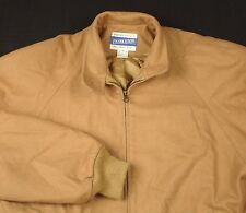 Pendleton Beige Coat Virgin Wool Jacket USA Sz M  VGUC