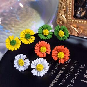 Fashion Women Daisy Flowers Ear Stud Drop Earrings Boho Charm Jewelry Gifts NEW