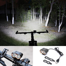 5000LM Bright 2x CREE LED USB Lamp Bike Bicycle Headlight Front Light Waterproof