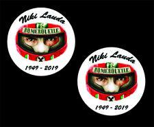 Niki Lauda F1 Helmet Stickers x2  Ferrar F1 Super Rat Stickers Decal Sticker