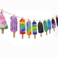 Ice Cream Banner Garland Wedding Baby Birthday Party Bedroom Hanging Decor NewNL