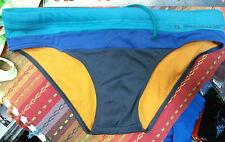 Hugo Boss Men's Blue Bikini Swimsuit - Nylon/Spandex - Orange liner - Size US42