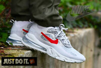 NIKE AIR MAX 270 - REACT - NEUTRAL GREY UNIVERSITY RED LIGHT -  UK SIZES