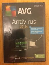 AVG Antivirus  2014 3 PCs 1 Year +PC TuneUp