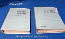 Sony UVW-1800 &1600 Service Manual Vol. 1 & 2