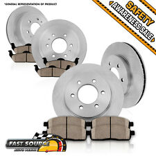 Front Rear Rotors Ceramic Pads GMC ACADIA BUICK ENCLAVE CHEVY TRAVERSE OUTLOOK