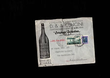 Busta pubblicitaria D&A Cencini Sorgente Paradiso, 25 cent Eritrea Posta aerea