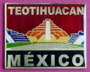 Souvenir Fridge Magnet Teotihuacan Pyramid Of The Sun Mexico
