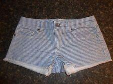 Victoria's Secret London jean boyfriend cut-off shorts railroad stripe size 0