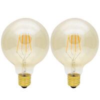 2x G95 E27 4W 2200K Dimmbar LED Lampen Filament Vintage Glühbirne Leuchtmittel