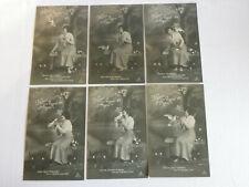 AK 6 Postkarten - Reime - Spruchkarten Satz - Postkarte 1900/1920     #529