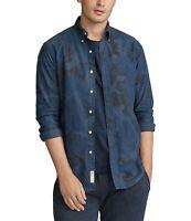 Ralph Lauren Polo Men's Sz S Blue Camo Classic Oxford Dress Shirt NWT $125