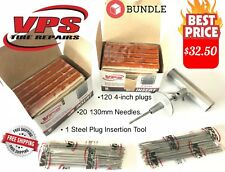 Professional  Tire Repair Kit, 120 VPS Plugs + 20 Replacement Needless + Tool