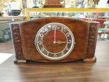 STUNNING GERMAN MAUTHE ART DECO MANTLE CLOCK - SCHWARZ LEIPZIG