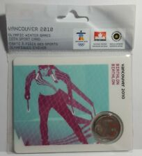 Vancouver 2010 Olympic Winter Games 25 Cent Coin Sport Card Biathlon