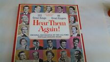 Hear Them Again! 10LP Record BoxSet of All-Time Popular singing stars       lp99