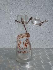 Bouteille verre Laiterie des prairies de l'Eure passage Pecquai R Fosquin