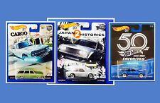 2018 Hot Wheels Car Culture 50th Favorites DATSUN 510 NISSAN SKYLINE TRIPLE PACK