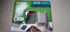 Newest Seagate Backup Plus Slim 2TB External USB 3.0/2.0 Portable Hard Drive