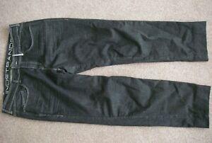 """Lindstrands Mason HI-ART mens black reinforced stretch denim jeans, 56/38"""" waist"""