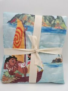 Pottery Barn Kids Disney Moana Percale Duvet Cover Full Queen L53