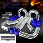 "3"" Aluminum Turbo Intercooler 45/90 Degree Piping+U Pipe+Elbow Hose+Clamps"