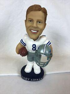 Dallas Cowboys Troy Aikman HOF NFL QB Club Hand Painted Football Bobblehead
