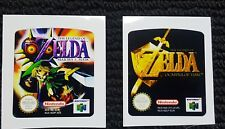 Zelda Majora's Mask and Ocarina of Time Labels Replacement for (N64) EUR PAL