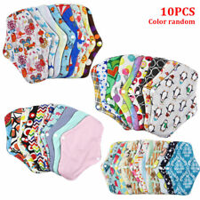 Women Menstrual Cloth Towel Pads Washable Reusable Bamboo Cotton Panty Liner