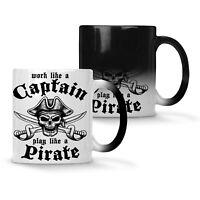 Work Like A Captain Play Pirate Colour changing 11oz Mug w509w