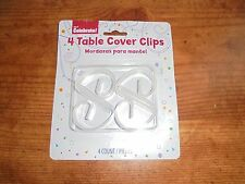 Table Cover Clips Plastic Set of 4 New Party camping Picnic Supplies