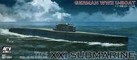 AFV Club 1/350 SE73501 WWII German U-Boat Type XXI Submarine